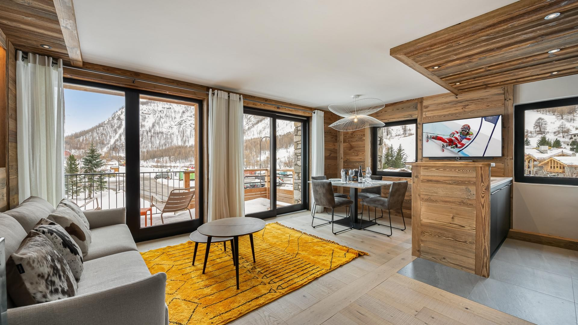 Val d'Isère Location Appartement Luxe Varmite Salon