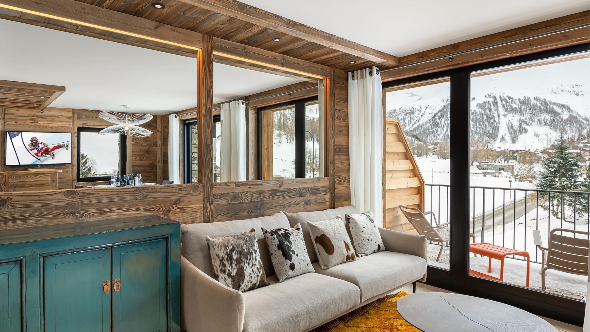 Val d'Isère Location Appartement Luxe Varmite Séjour