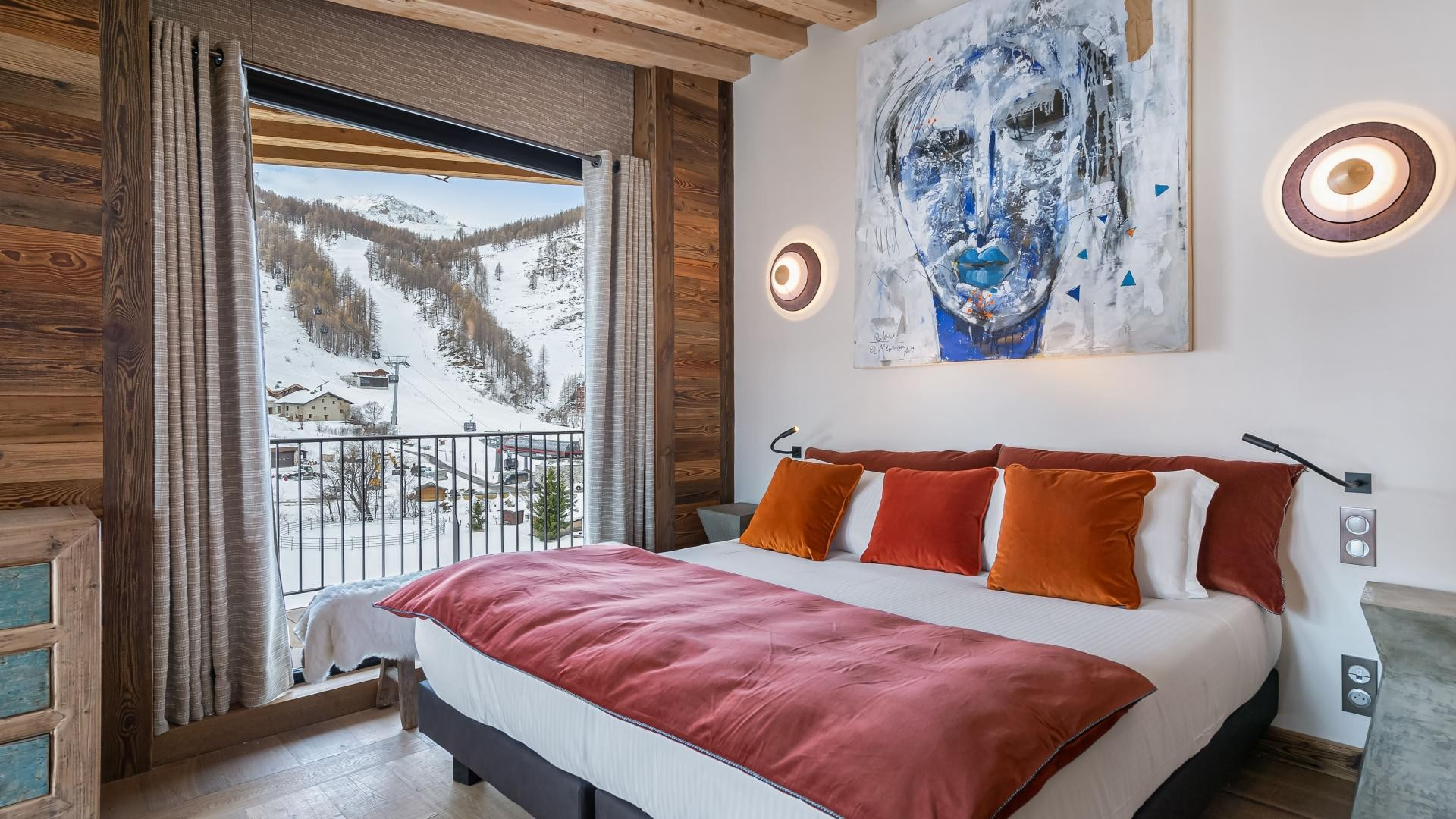 Val d'Isère Location Appartement Luxe Varvate Chambre1