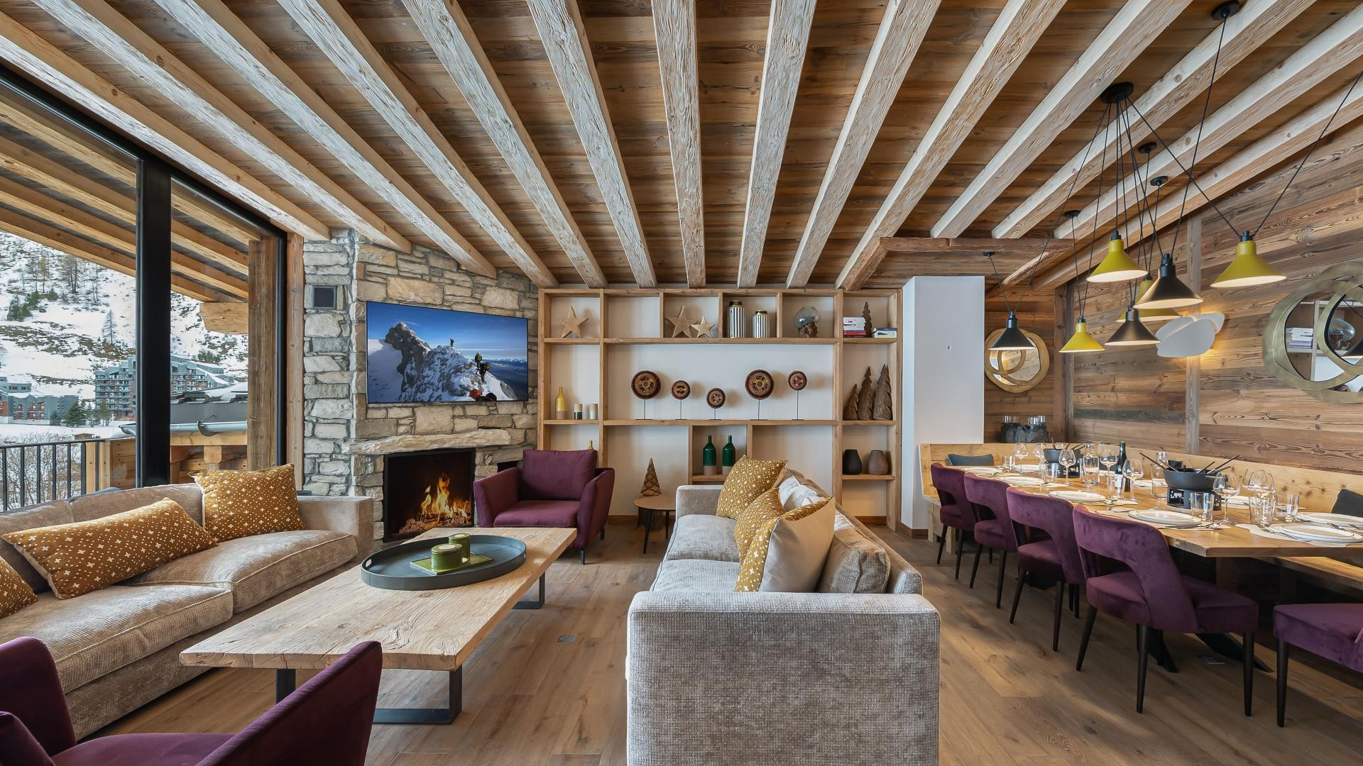 Val d'Isère Location Appartement Luxe Varvite Salon