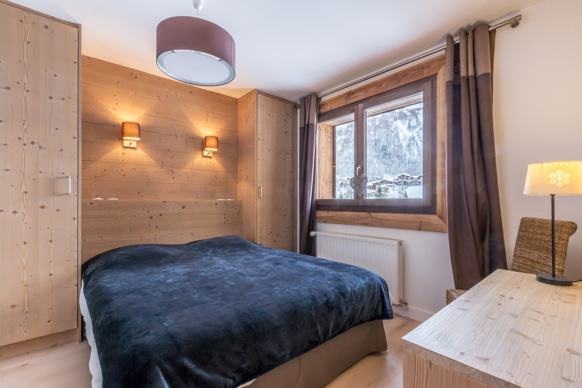 Val d'Isère Location Appartement Luxe Vaselate Chambre