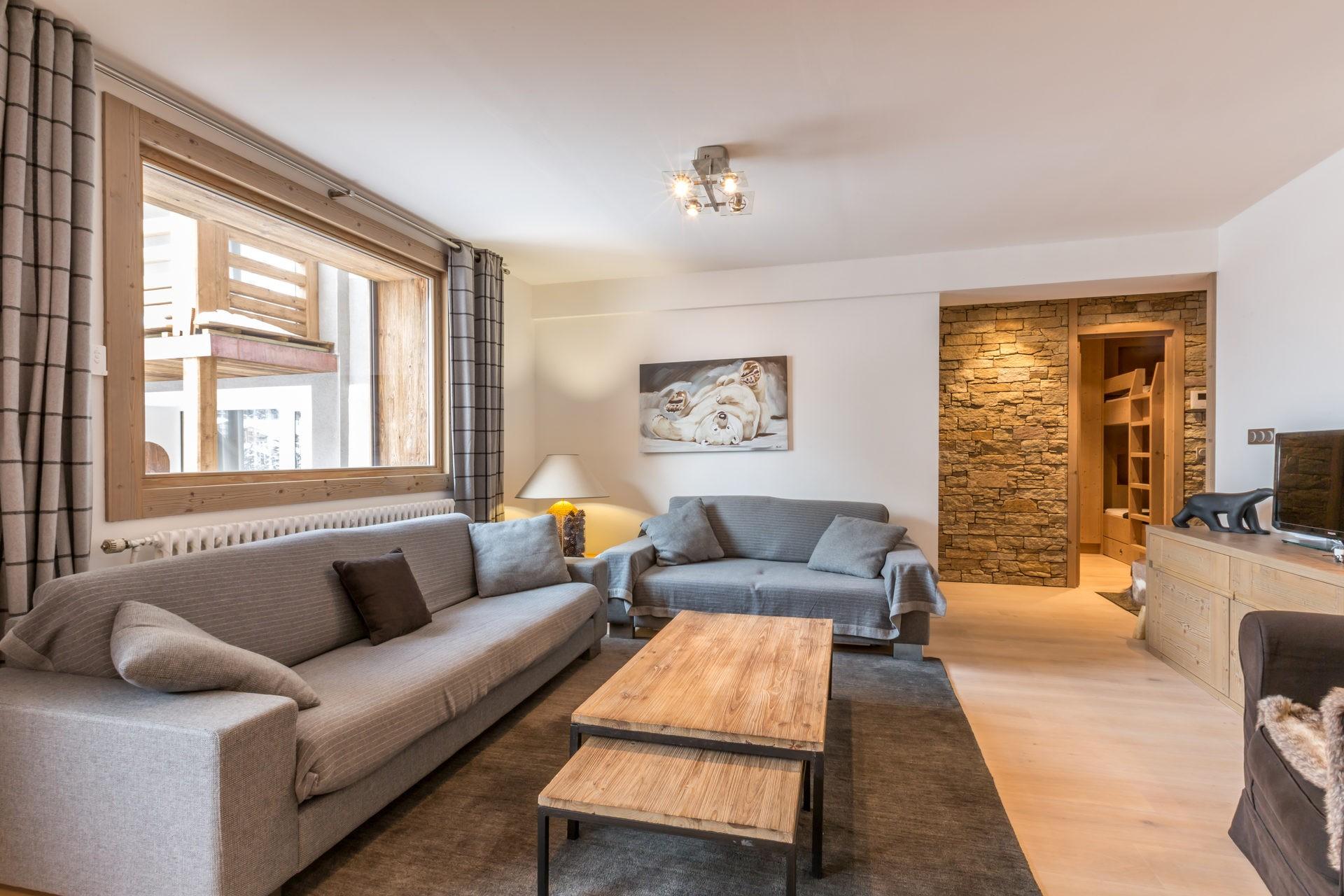 Val d'Isère Location Appartement Luxe Vaselate Séjour