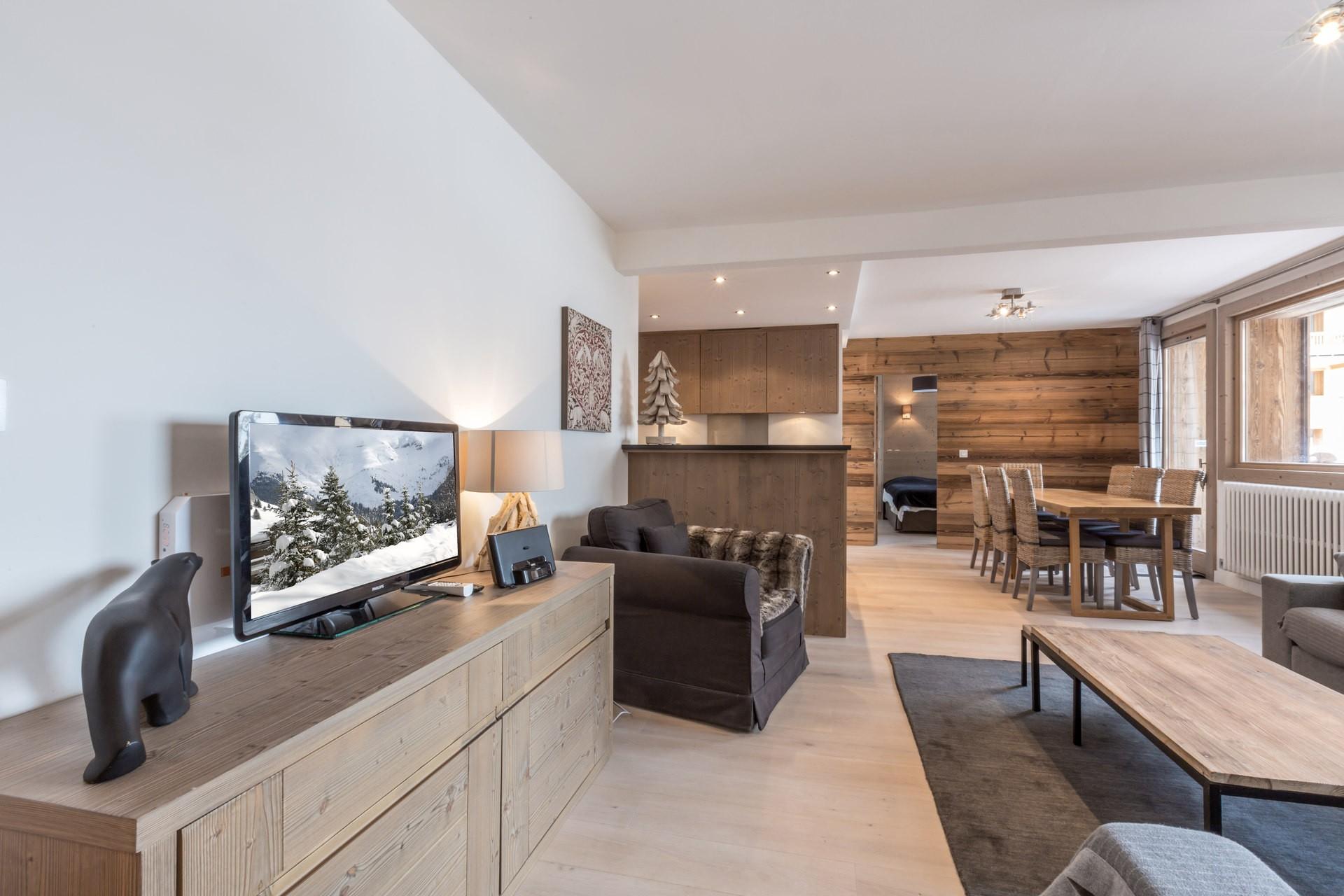 Val d'Isère Location Appartement Luxe Vaselate Séjour 2