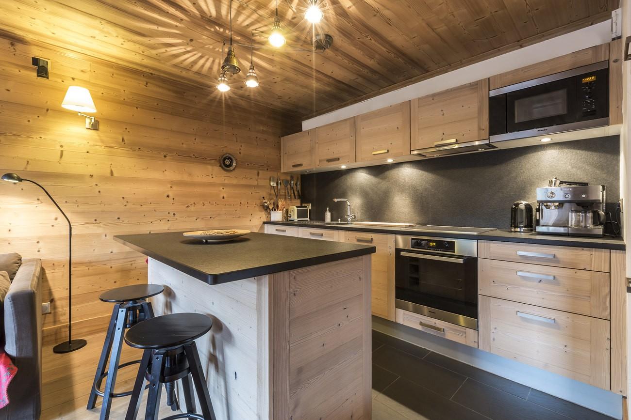 Val d'Isère Location Appartement Luxe Vaselite Cuisine