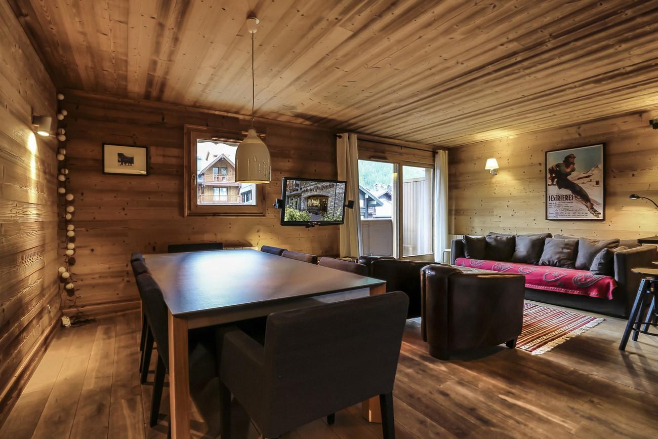 Val d'Isère Location Appartement Luxe Vaselite Séjour 4