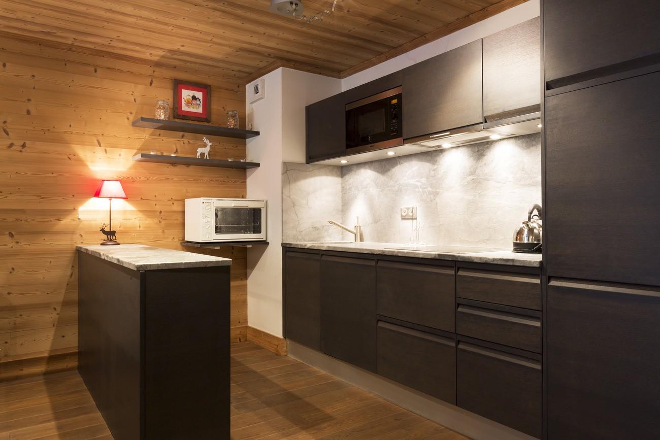 Val d'Isère Location Appartement Luxe Vaselote Cuisine