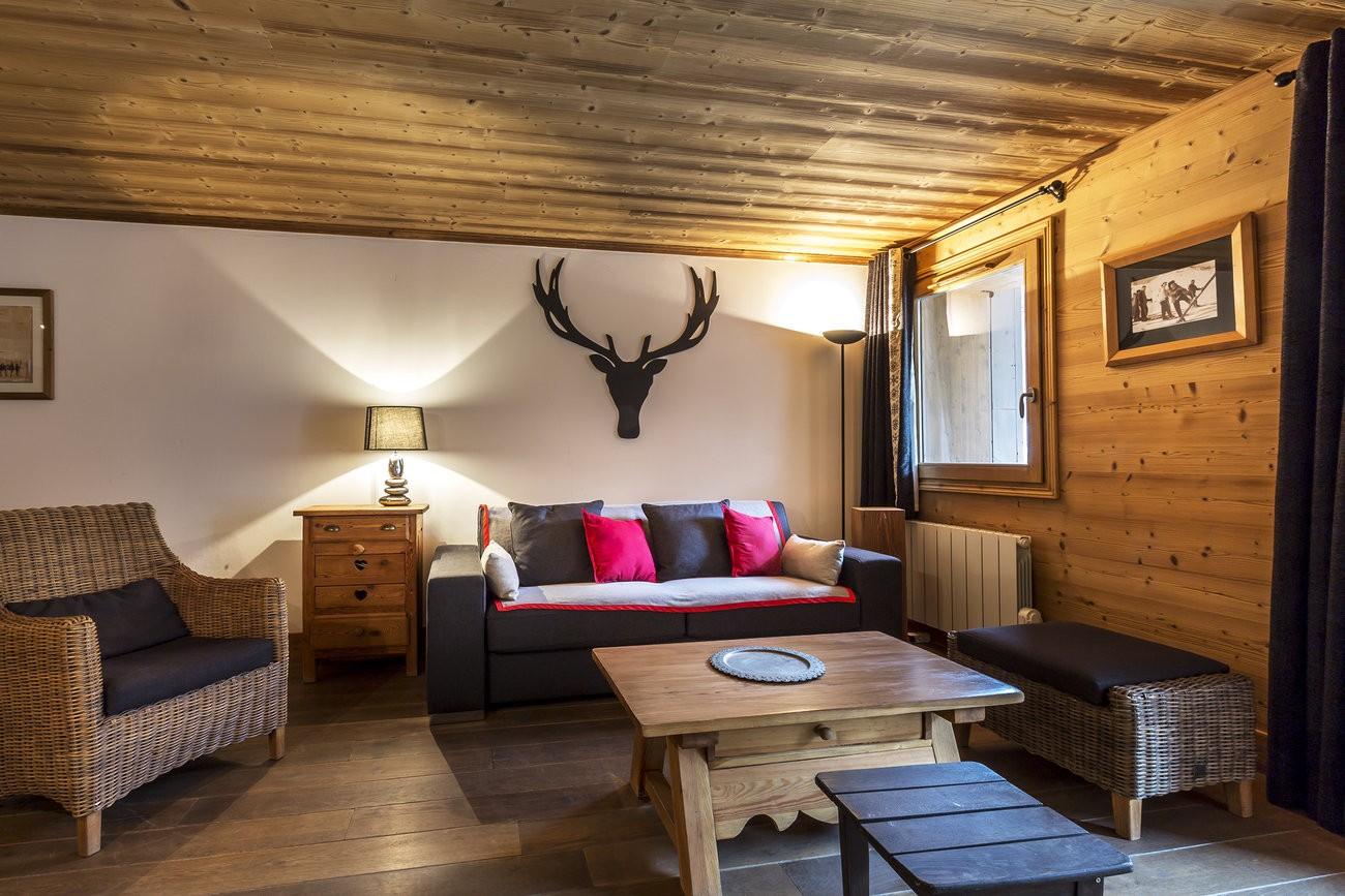 Val d'Isère Location Appartement Luxe Vaselote Séjour 2