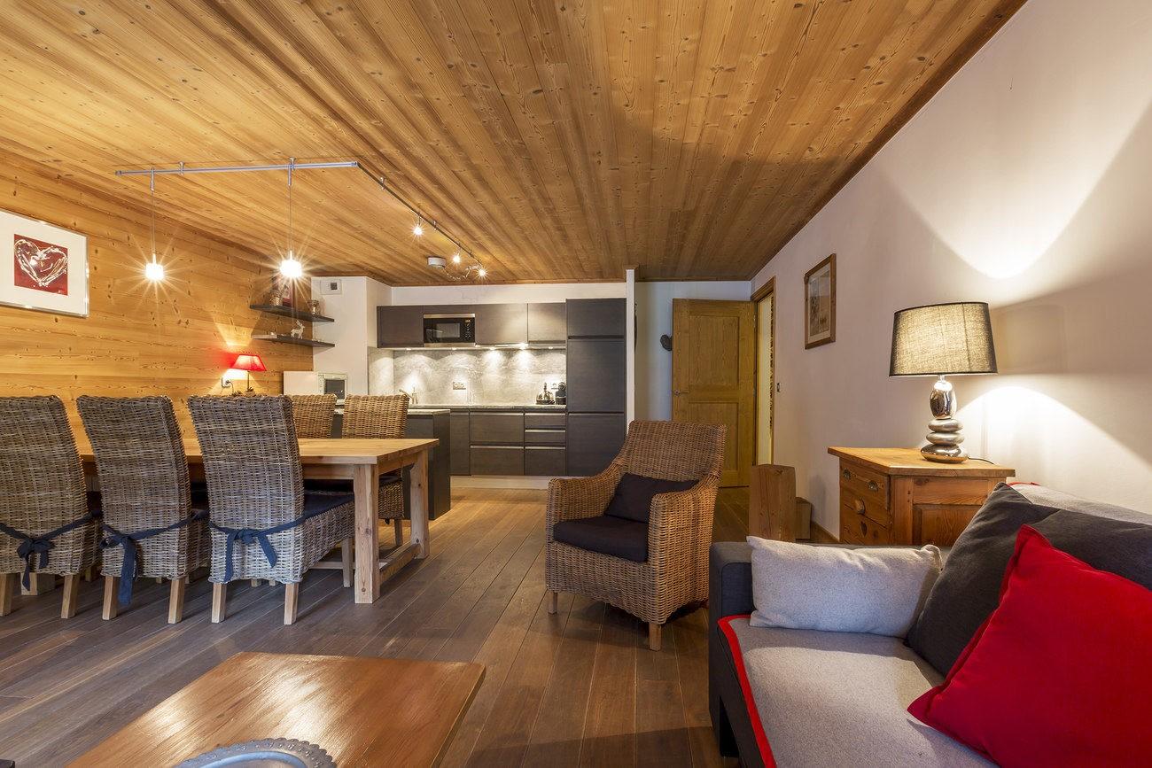 Val d'Isère Location Appartement Luxe Vaselote Séjour 3