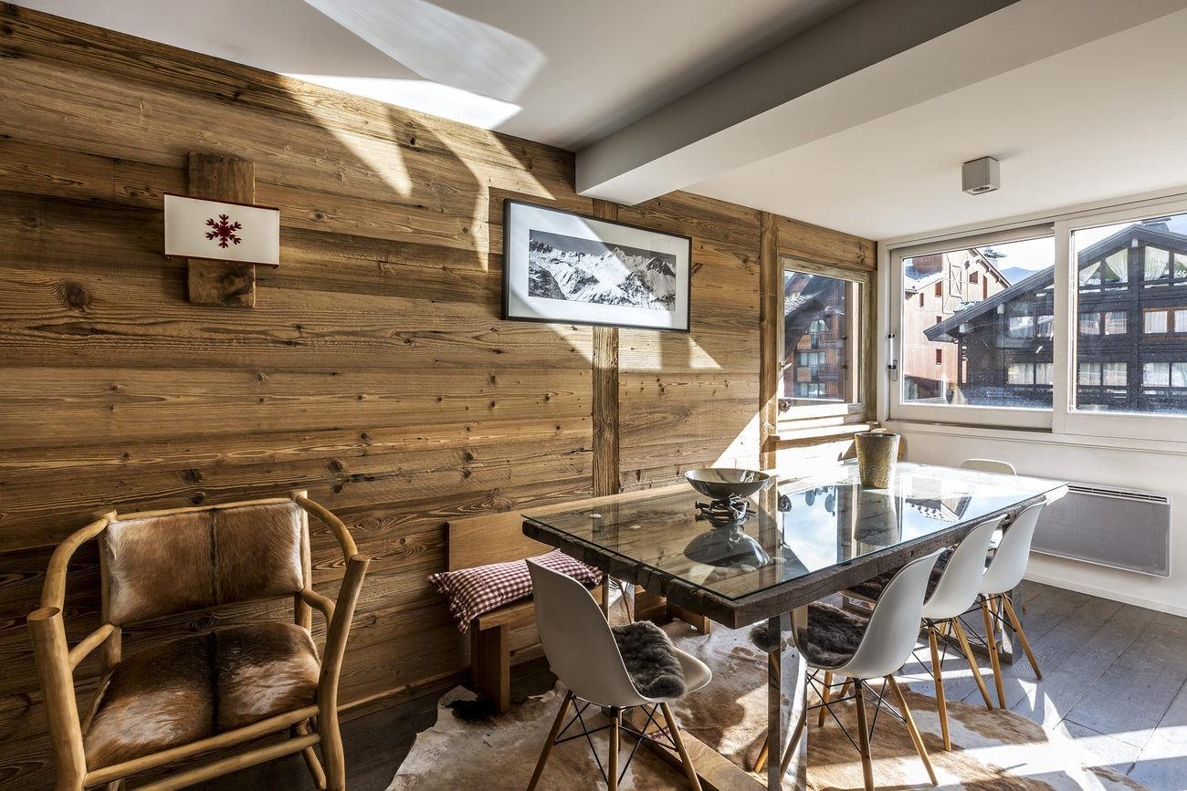 Val d'Isère Location Appartement Luxe Vasilite Salle A Manger