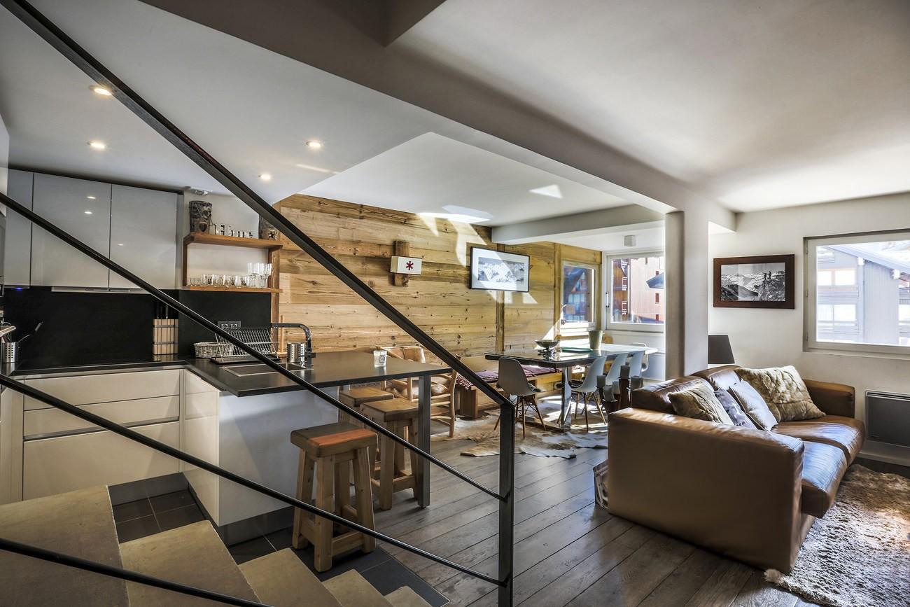 Val d'Isère Location Appartement Luxe Vasilite Séjour