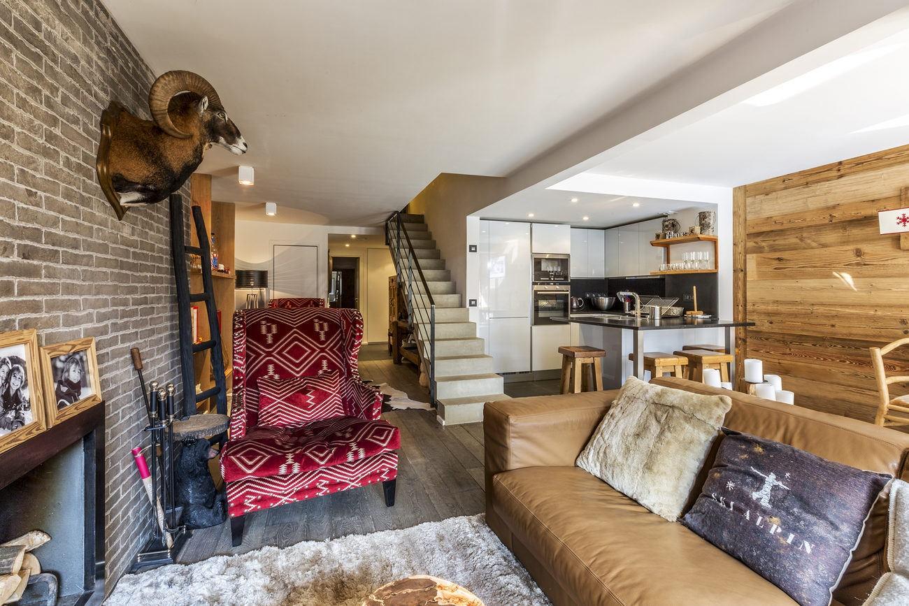 Val d'Isère Location Appartement Luxe Vasilite Séjour 7