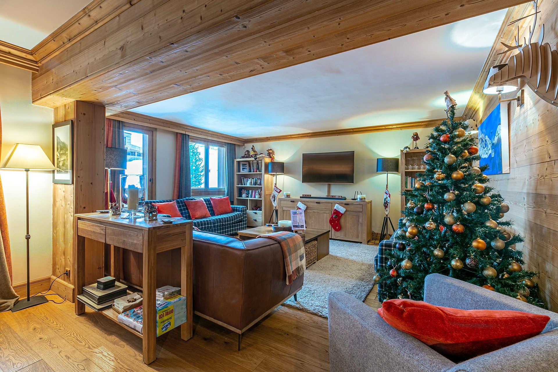 Val d'Isère Location Appartement Luxe Vatalis Séjour 3