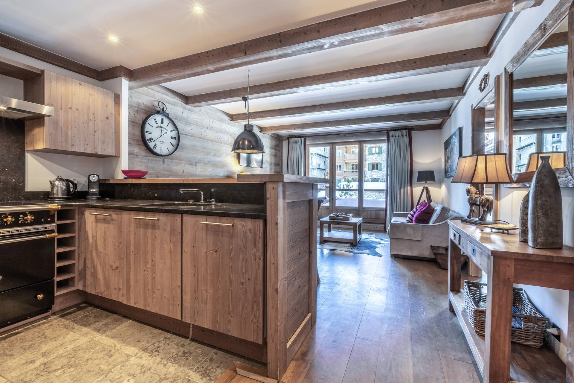 Val d'Isère Luxury Rental Apartment Vaulite Kitchen