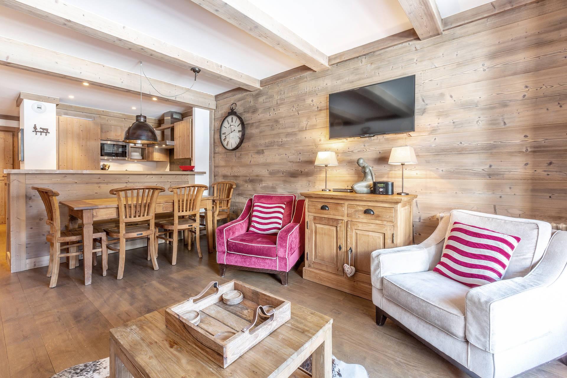 Val d'Isère Luxury Rental Apartment Vaulite Living Area 2