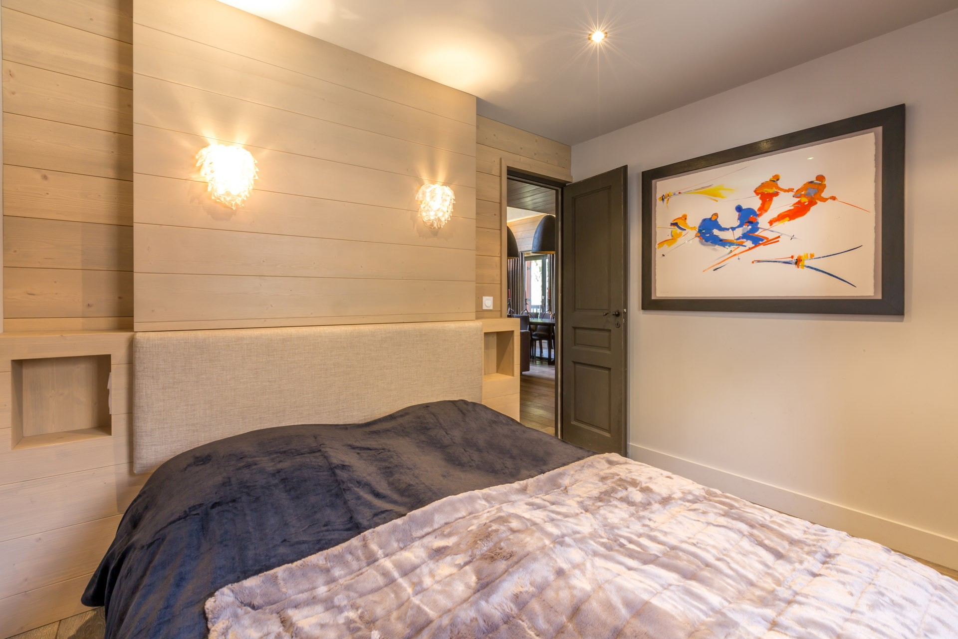 Val d'Isère Location Appartement Luxe Vaxite Chambre