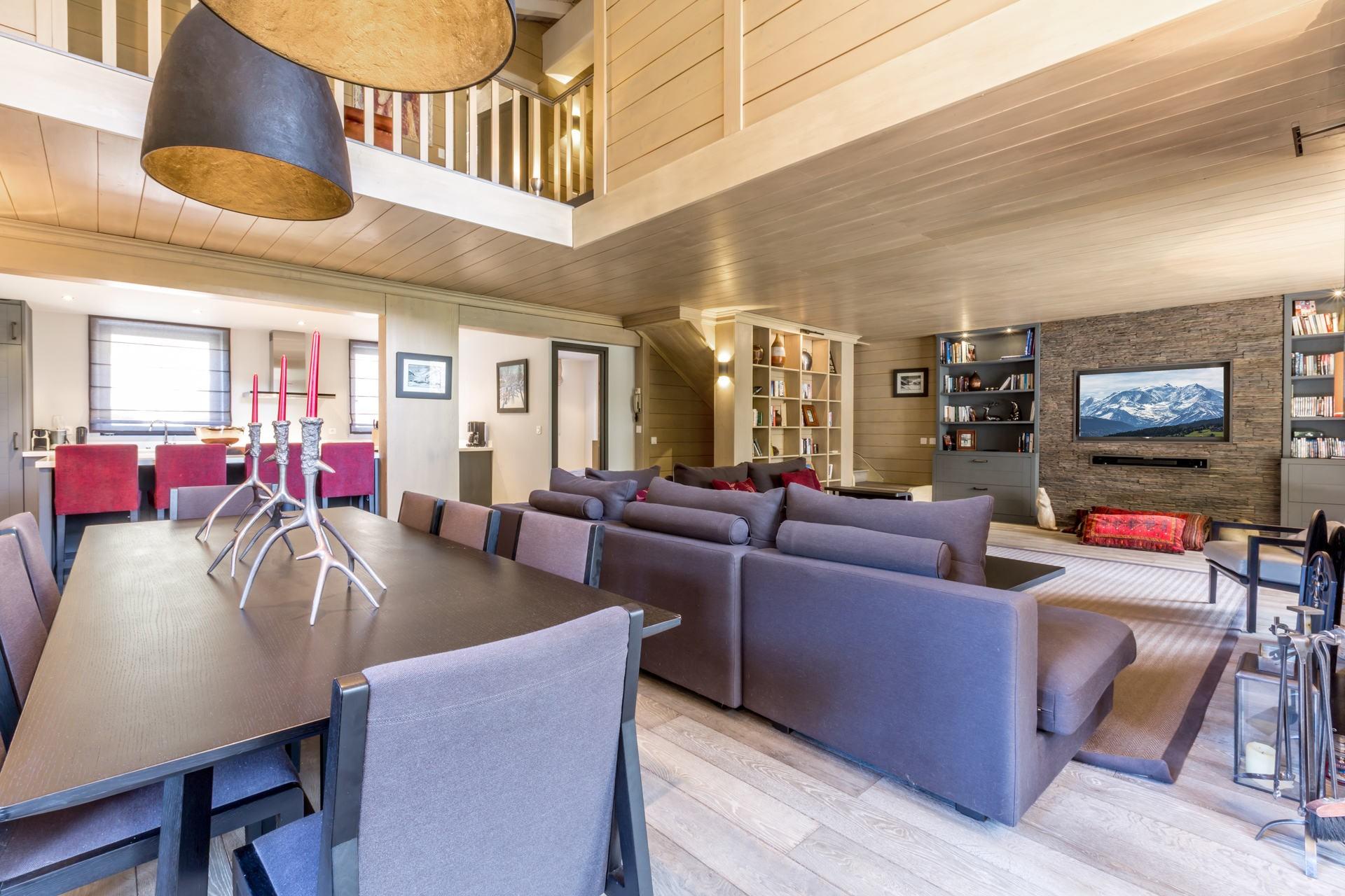 Val d'Isère Location Appartement Luxe Vaxite Séjour