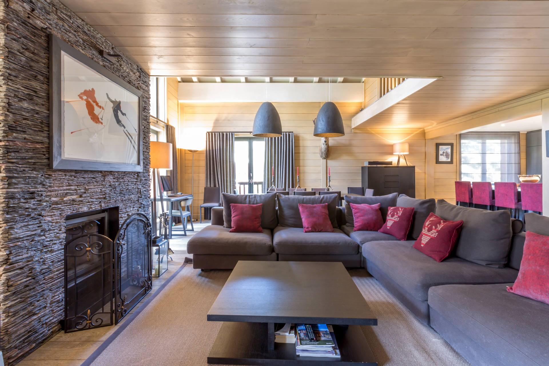 Val d'Isère Location Appartement Luxe Vaxite Séjour 4