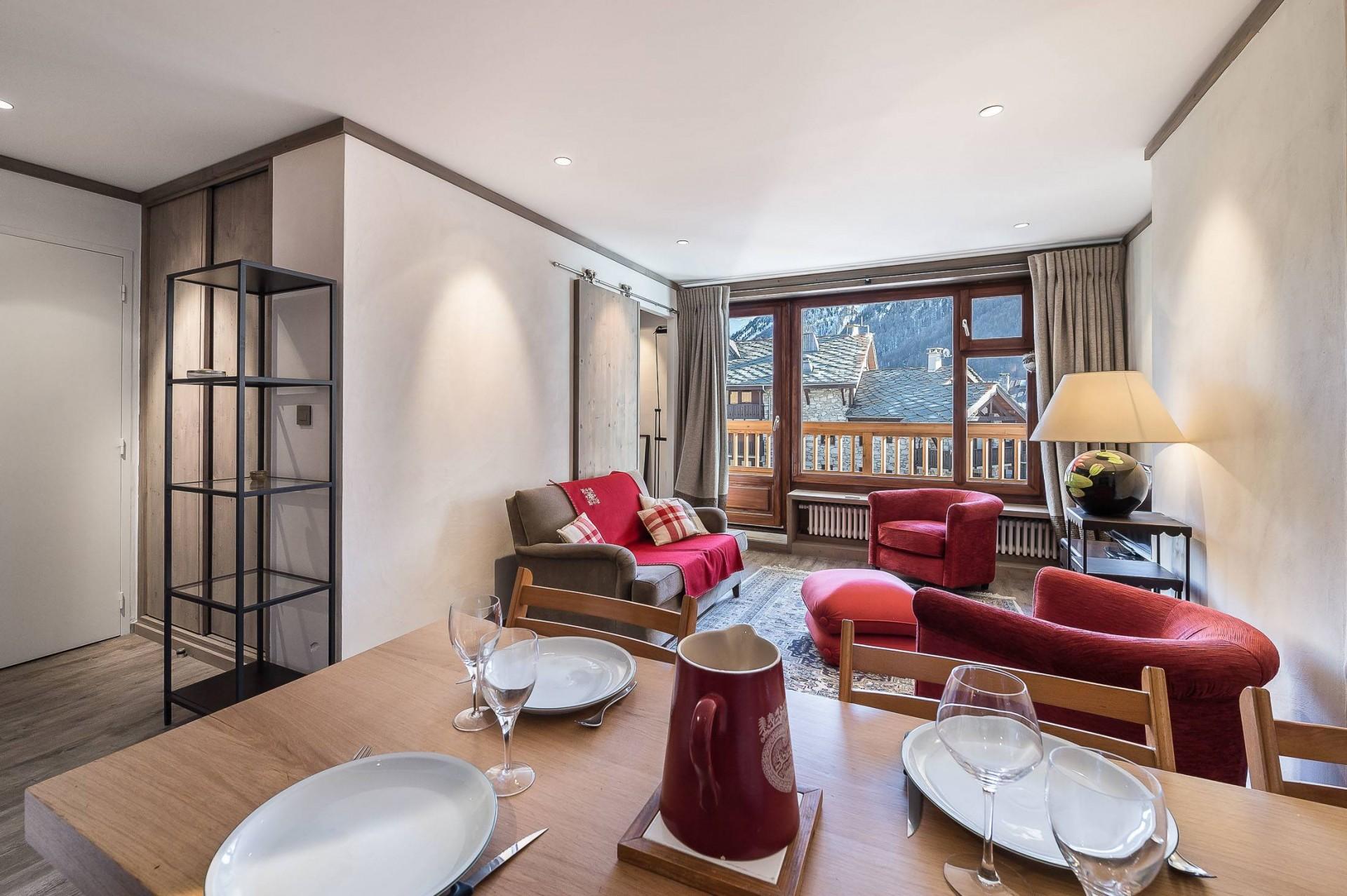 Val d'Isère Luxury Rental Appartment Vazuli Living Area