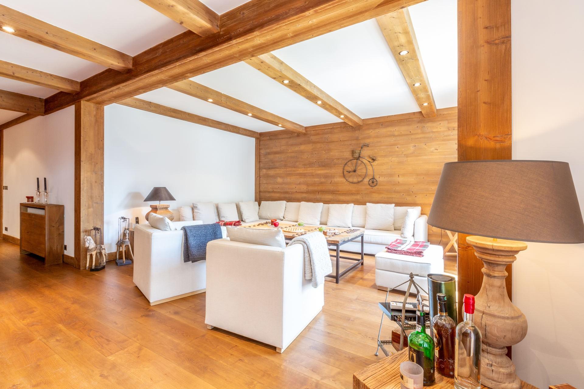 Val d'Isère Location Appartement Luxe Venturina Séjour