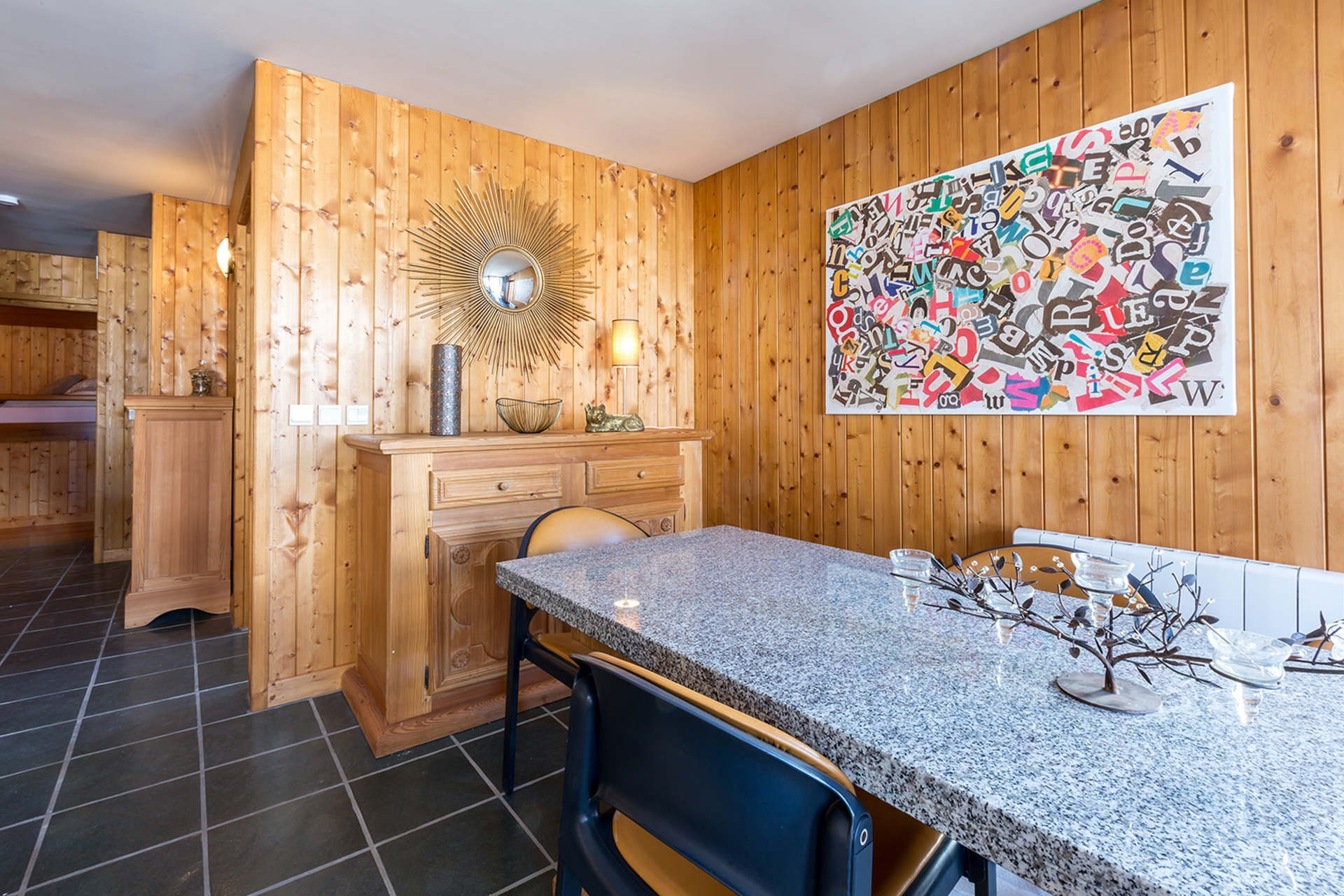 Val d'Isère Location Appartement Luxe Vesuvin Salle A Manger