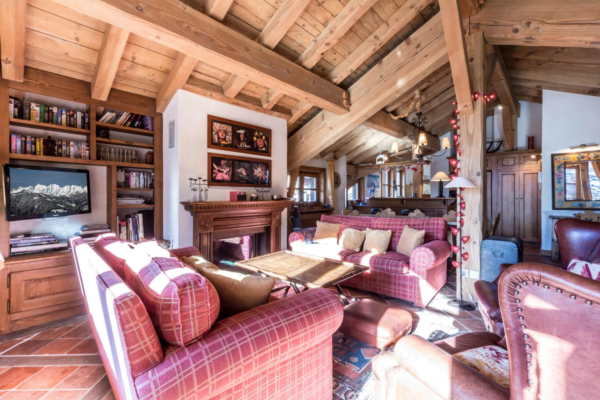 Val d'Isère Location Appartement Luxe Violane Séjour 3