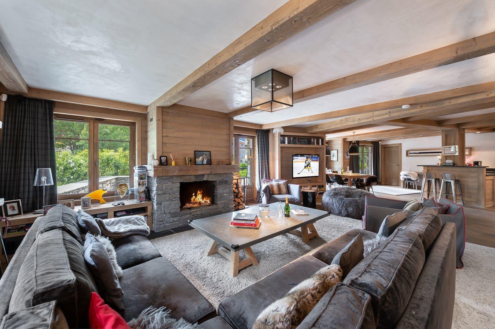 Val d'Isère Location Appartement Luxe Viorne Séjour 4