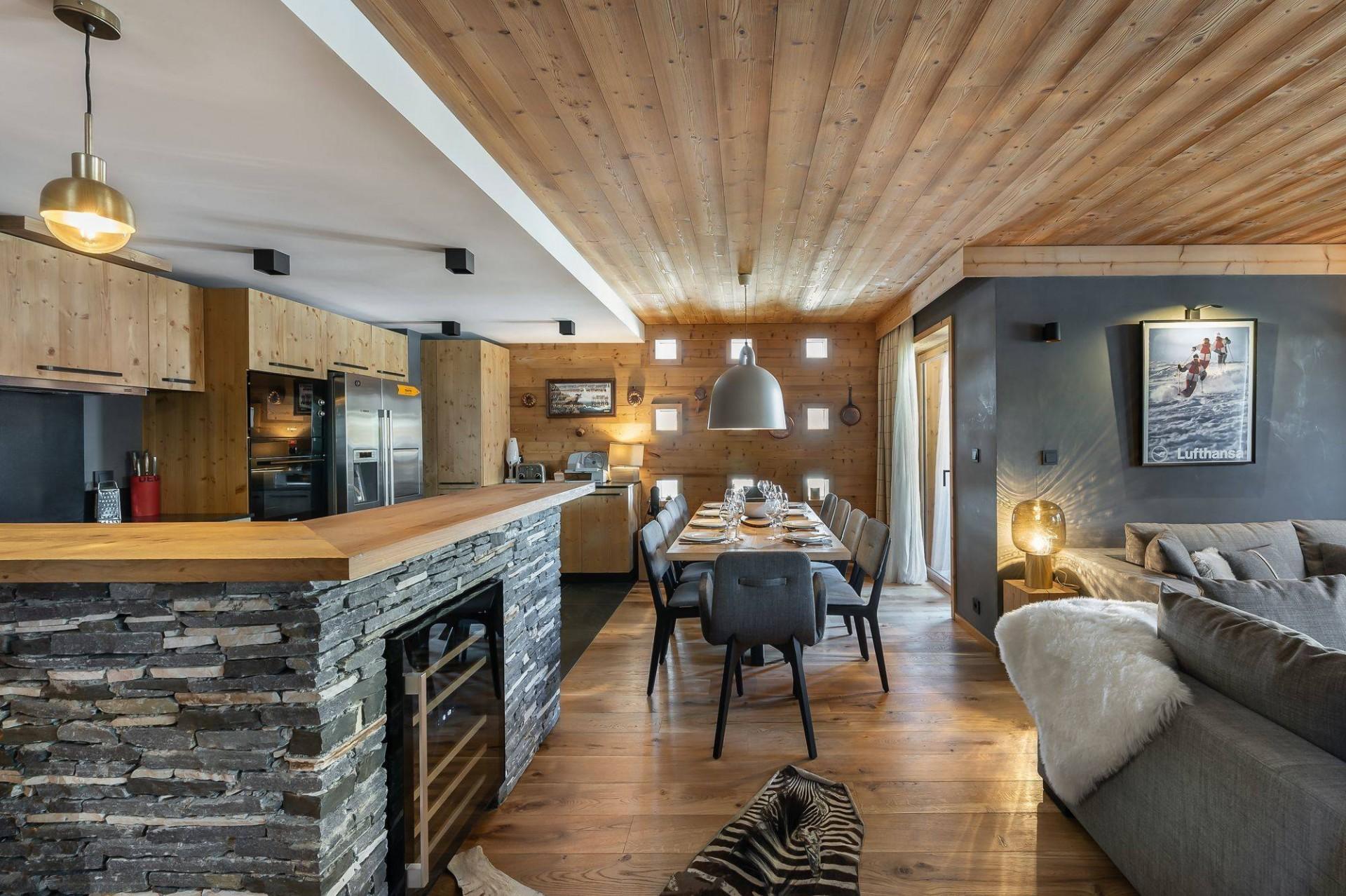 Val d'Isère Location Appartement Luxe Virlonte Salle A Manger