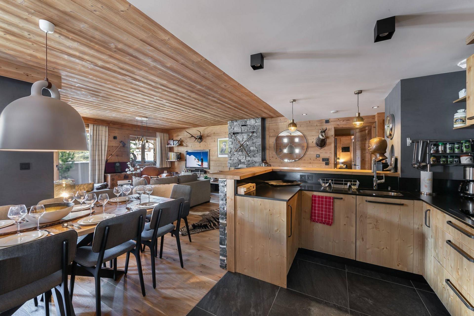 Val d'Isère Location Appartement Luxe Virlonte Salle A Manger 2