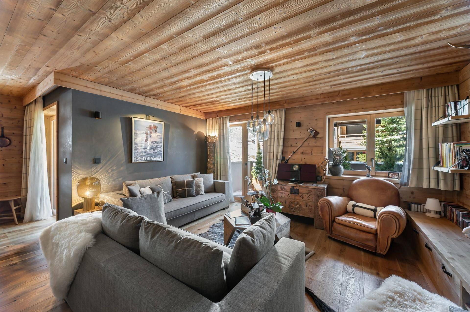 Val d'Isère Location Appartement Luxe Virlonte Séjour