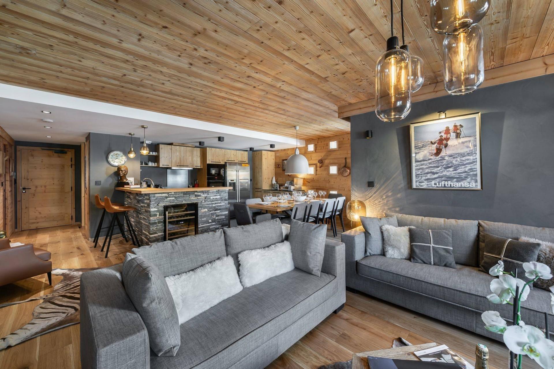 Val d'Isère Location Appartement Luxe Virlonte Séjour 3