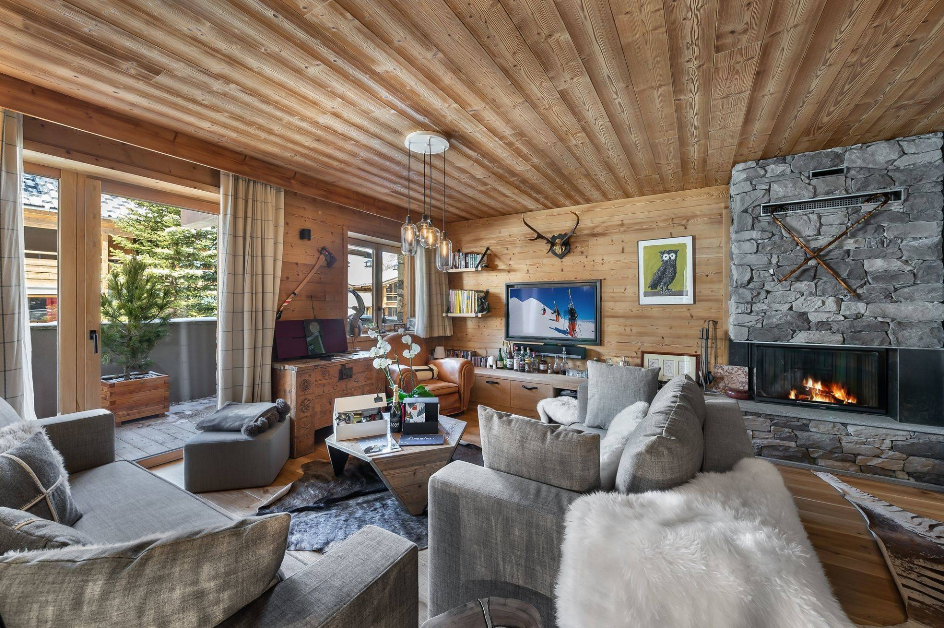 Val d'Isère Location Appartement Luxe Virlonte Séjour 4
