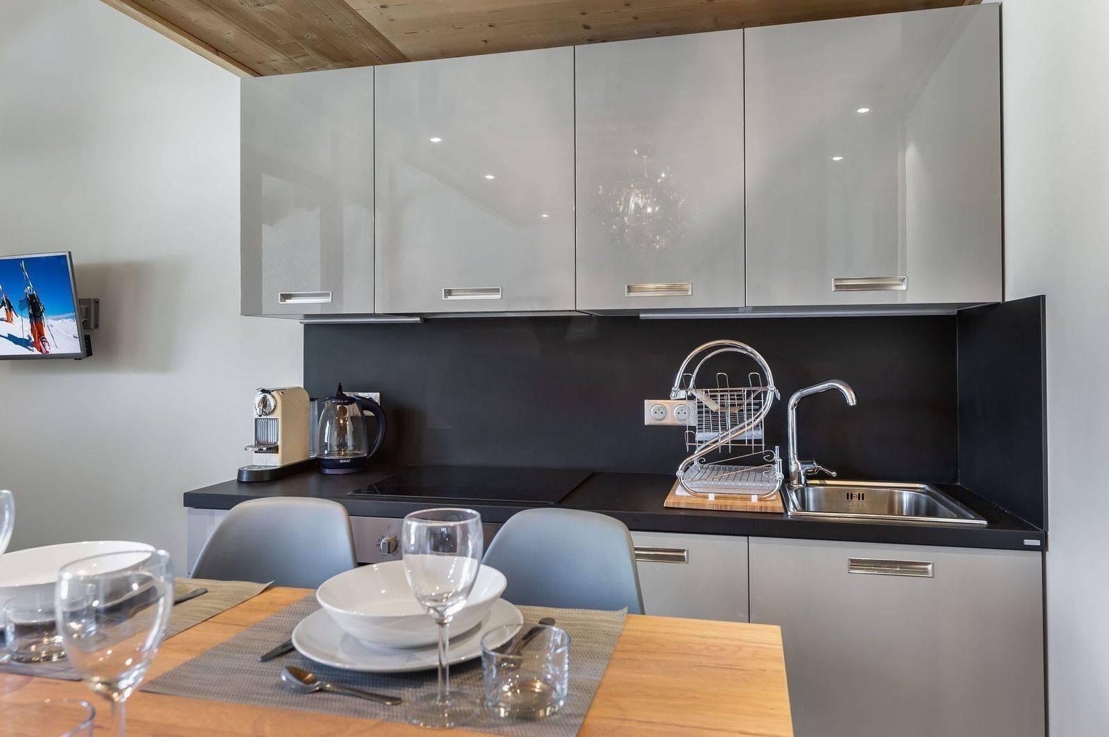 Val d'Isère Luxury Rental Appartment Virlouve Kitchen 2