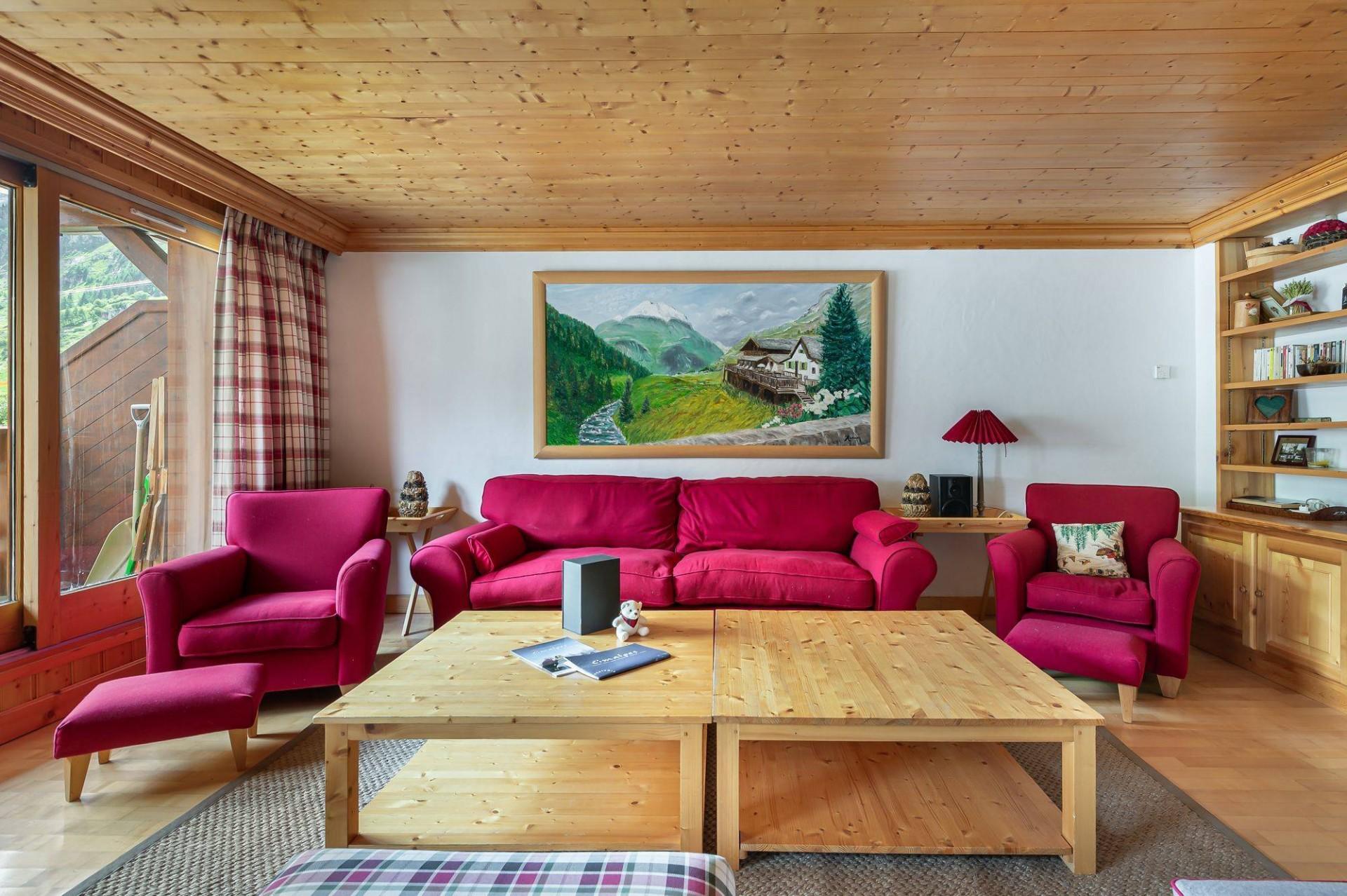 Val d'Isère Location Appartement Luxe Vitolan Séjour