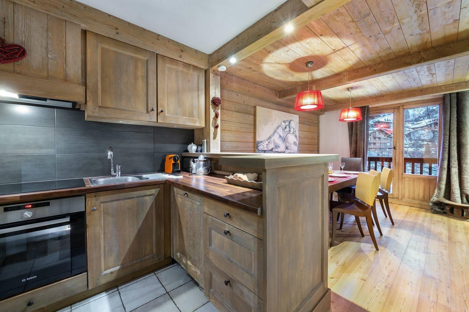 Val d'Isère Location Appartement Luxe Vizir Cuisine
