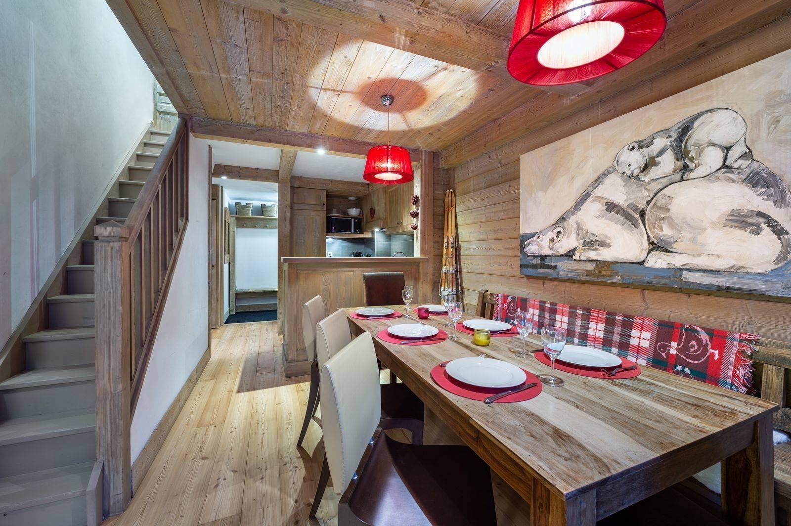 Val d'Isère Location Appartement Luxe Vizir Salle A Manger