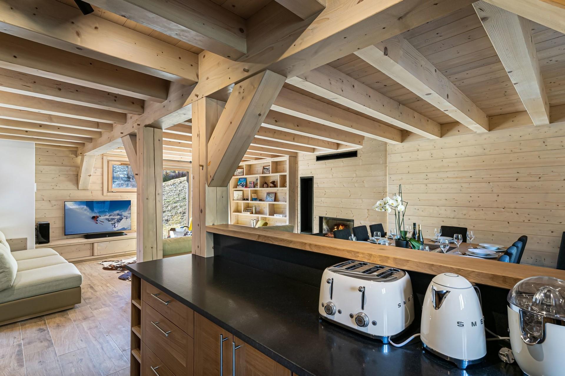 Val d'Isère Luxury Rental Chalet Eclaito Kitchen 2