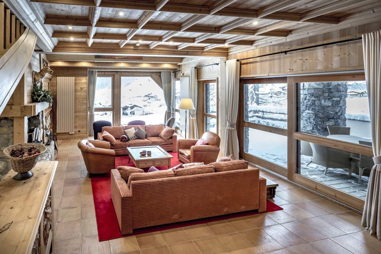 Val d'Isère Location Chalet Luxe Grenat Almandin Salon