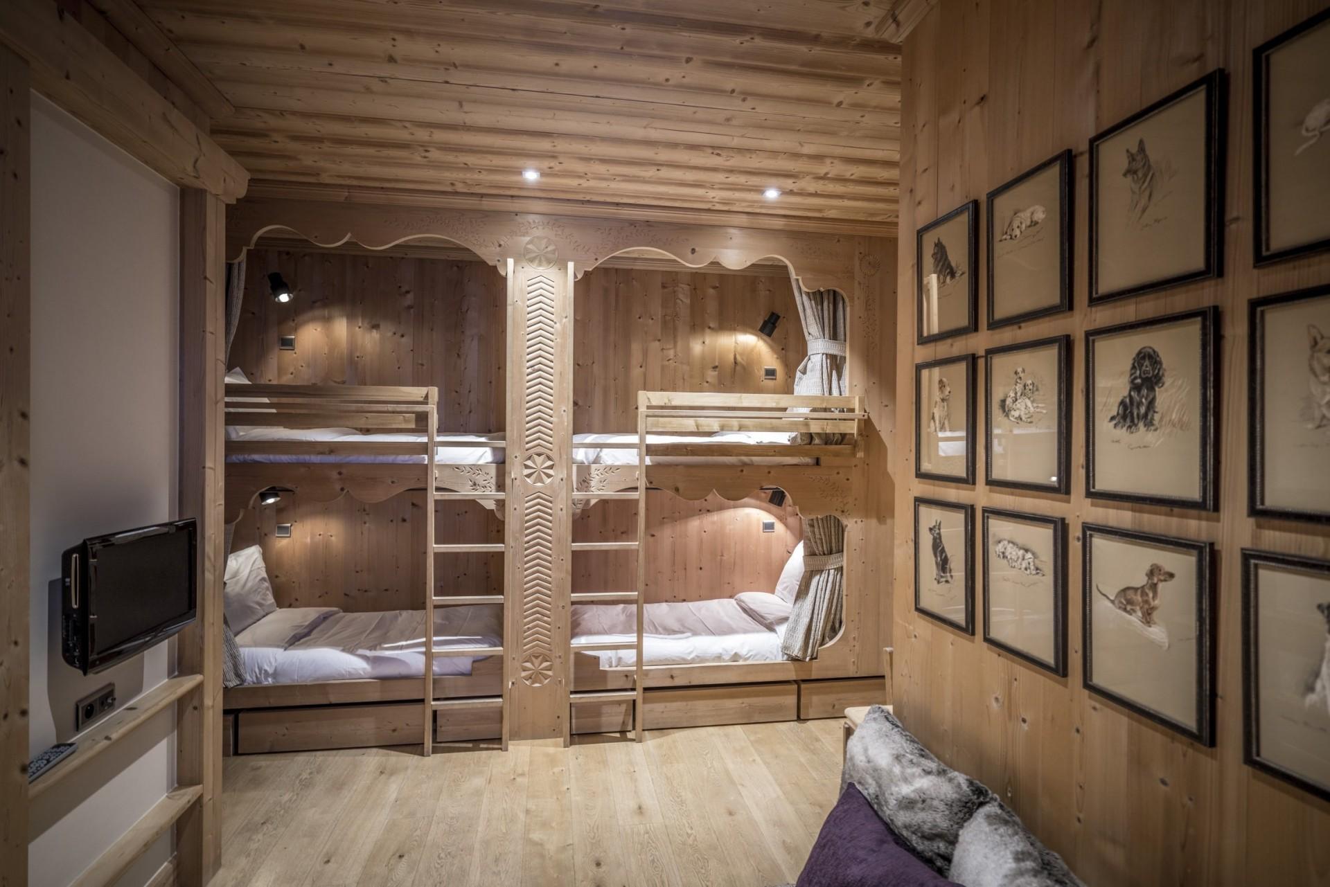 Val d'Isère Location Chalet Luxe Grenat De Boheme Chambre