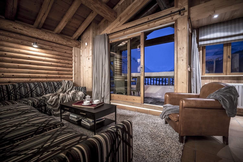 Val d'Isère Location Chalet Luxe Grenat De Boheme Salon2
