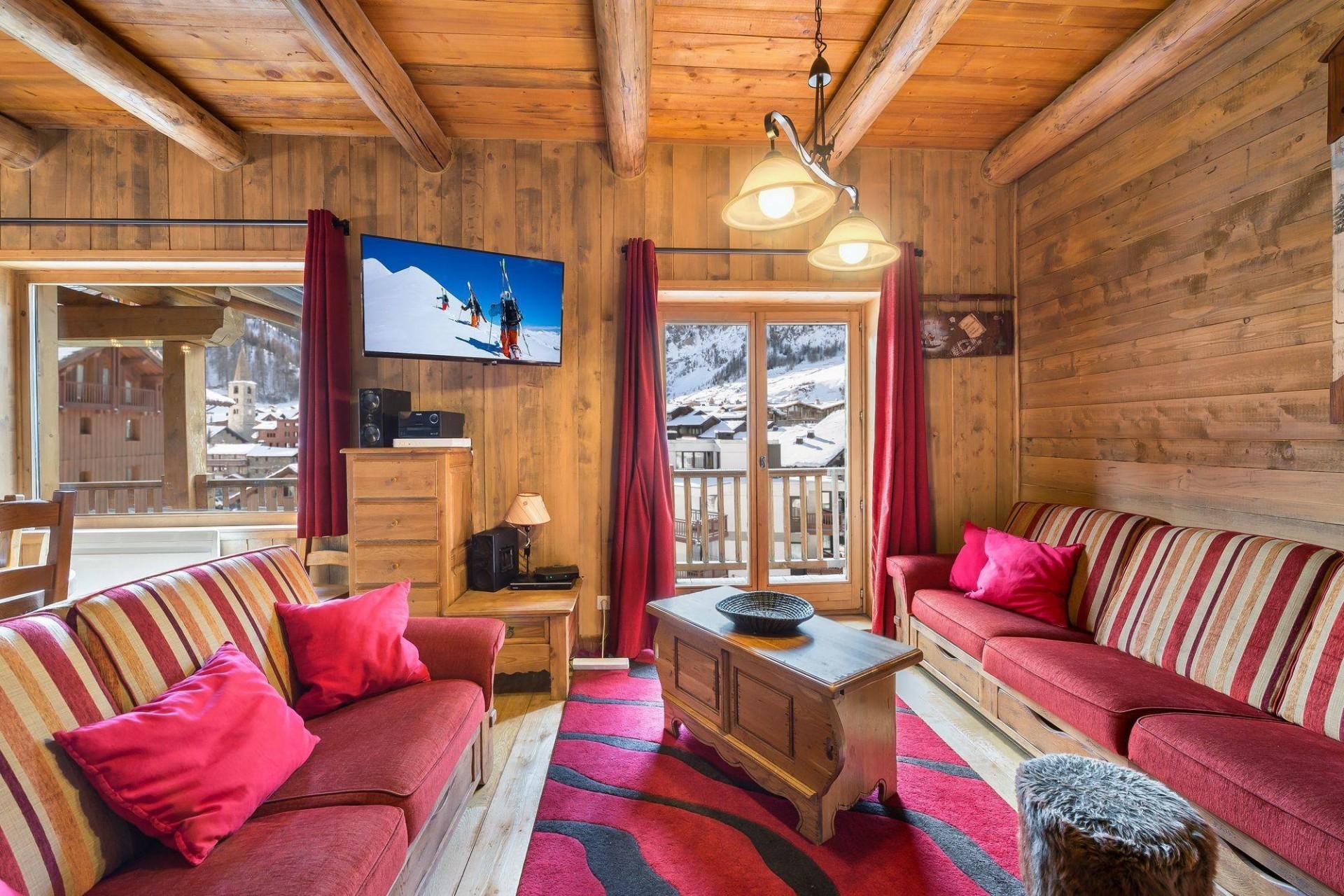 Val d'Isère Location Chalet Luxe Jaden Séjour