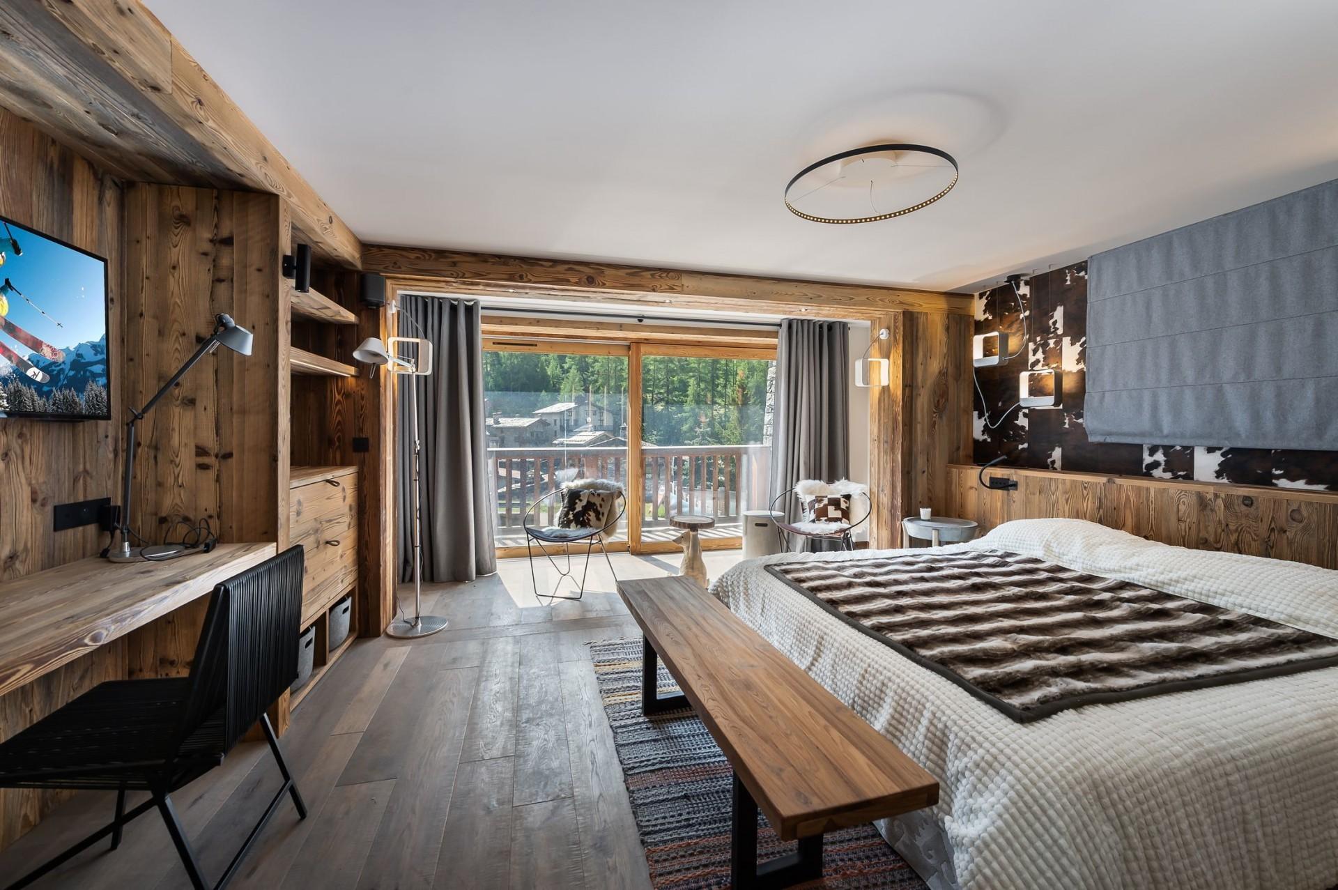 Val d'Isère Location Chalet Luxe Tellanche Chambre