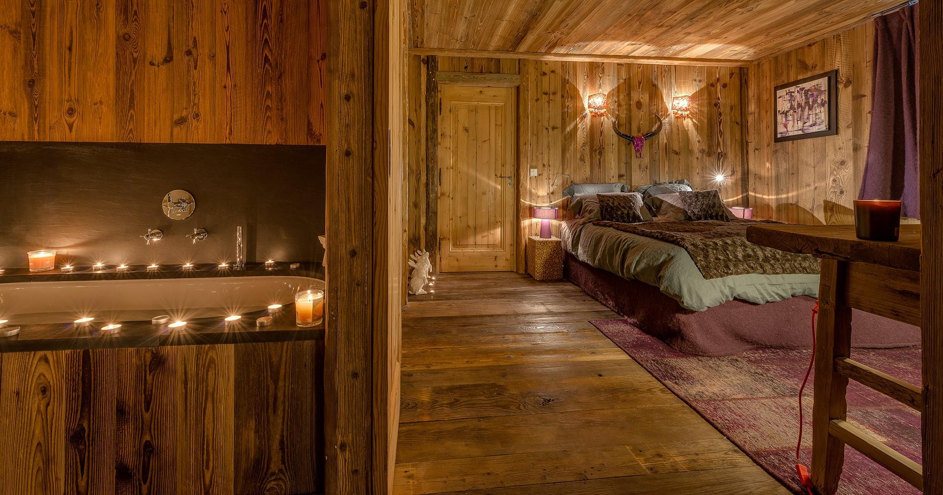 Val D'Isère Luxury Rental Chalet Umbute Ensuite Bedroom