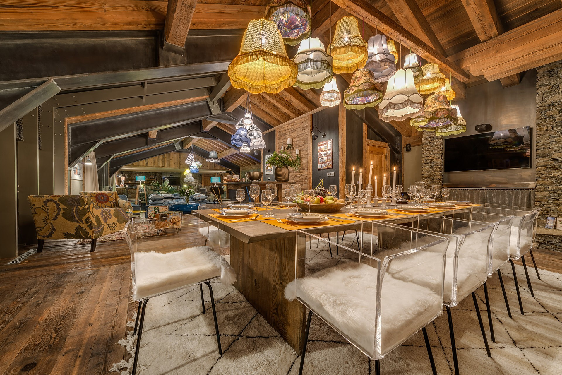 Val D'Isère Luxury Rental Chalet Umbute Dining Room 2
