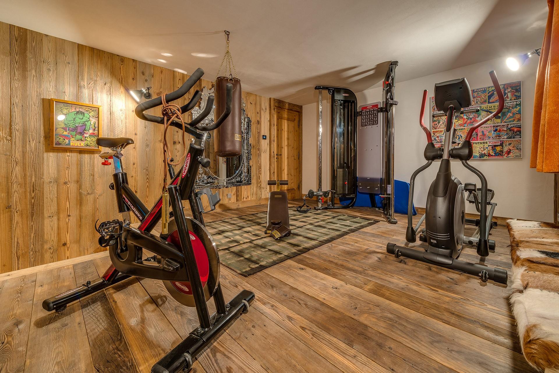 Val D'Isère Luxury Rental Chalet Umbute Fitness Room