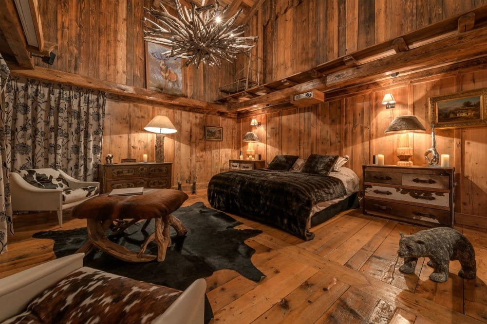 Val d'Isère Location Chalet Luxe Unakite Chambre