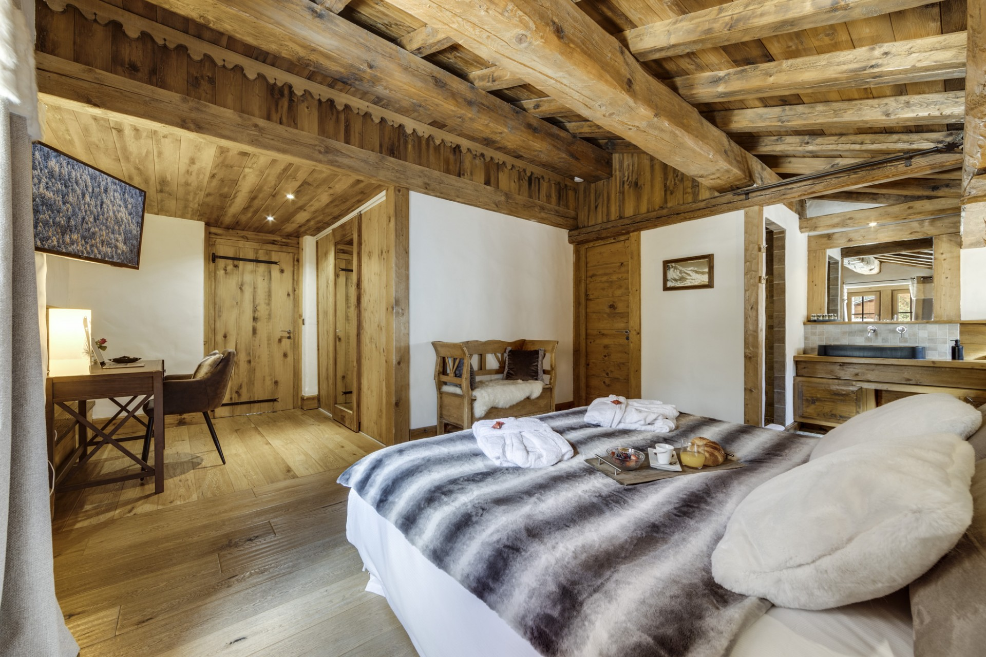 Val D'Isère Location Chalet Luxe Vonsanite Chambre