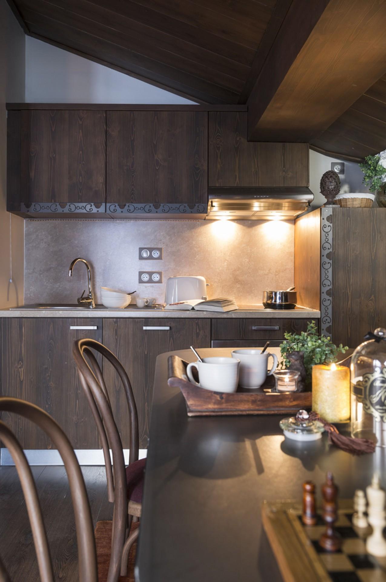 Val Thorens Location Appartement Luxe Valokite Cuisine
