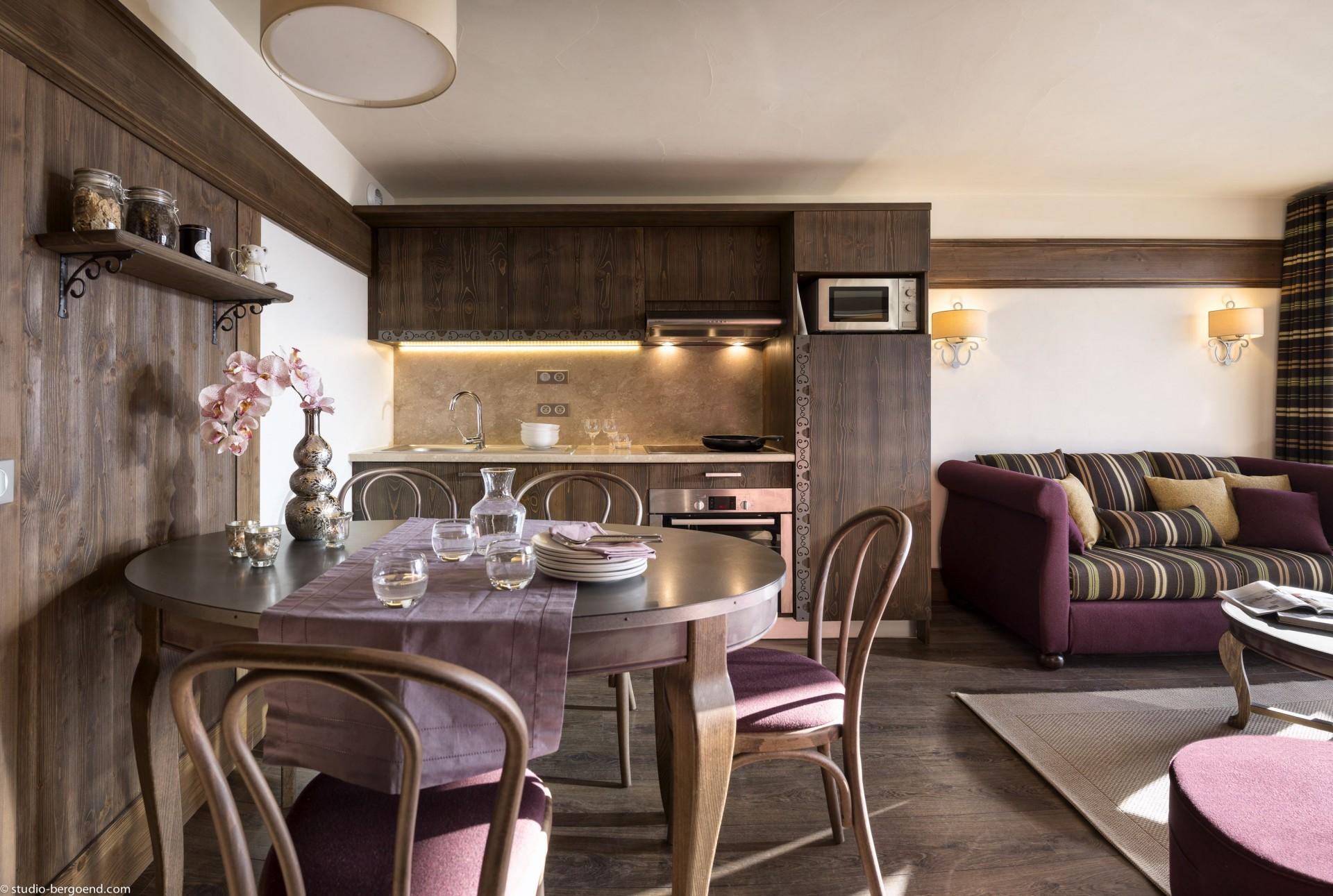 Val Thorens Rental Appartment Luxury Valukite Kitchen