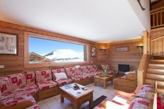 Alpe d'Huez Location Chalet Luxe Abelsonite Séjour