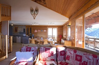 Alpe d'Huez Location Chalet Luxe Abelsonite Séjour 1